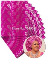 african head wraps - Fast by DHL African sego headtie sego Head Tie gele Wraps Fushia Silver packs