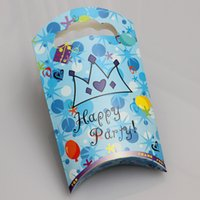 Cheap 20pcs lot Lovely Cartoon Design Paper Bag Candy Package Children's Birthday Events Party gift Favor wd951