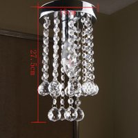 Wholesale Modern Crystal Chandelier Light Fixture Small Clear Crystal Lustre Lamp with LED Light D15cm H27 cm