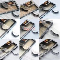 beauty hands cottons - 50 Style Makeup Natural MINK Eyelashes Beauty Eyes False Eyelashes mink fur false eyelashes full strip lashes for ladies High quality