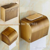 Wholesale Modern Good Quality Brass Wall Mount Bathroom Toilet Paper Box Antique Waterproof Toilet Tissue Paper Holder