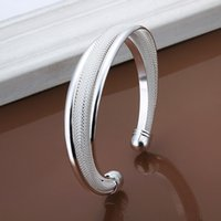 brand name jewelry - Brand Name Anti fading Screw Web Korean Style Exquisite Cuff Sterling Silver Bangle Bracelet Jewelry Freeshipping