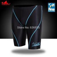 Cheap Yingfa 9402b FINA Approved men's fastskin swim jammer mens sharkskin swimwear free shipping