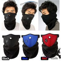 Wholesale of Newly Unisex Neoprene Neck Warm Face Mask Veil Sport Motorcycle Cycling Ski Snowboard Guard black blue red