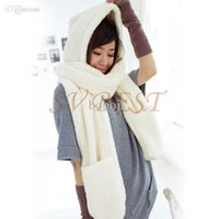 Wholesale In Set New Winter Cute Pure Three Piece Wool Scarves Hat Gloves Women Warm Neck Girl s Winter Hat Scarf