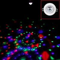 Wholesale Hot Sale W Full Color RGB LED Voice Activated Rotating Ceiling Stage Light DJ Disco Moving Party Stage Lighting Lamp AC V