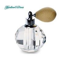 art deco crystal perfume bottle - Crystal Art Deco Vintage Style Faceted Perfume Spray Bottle Atomizer Refillable Glass Bottle Wedding Gift