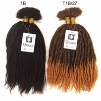 afro fashion - Top Fashion Marley Braid Hair Bulk For Building Afro Kinky Bulk Queen Hair Products Ombre Kanekalon Braiding Hair