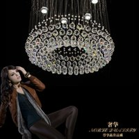 atmospheric art - 85 v LED crystal LAMP simple atmospheric crystal Chandeliers sitting room dining room bedroom absorb dome light
