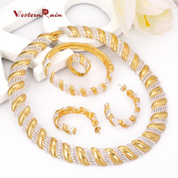 Wholesale Westernrain African Gold high quality Transparent plated jewelry sets best quality Wedding Engagement gift Women s Romantic Design A407