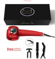 Cheap Wholesale New Hair Styler Showliss Pro LCD Hair Curler With 2 Free Hair Clips Styler Curling Iron Automatic Universal Voltage Perfect