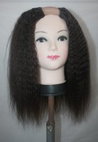 Wholesale New Arrival Hot Virgin human Hair Kinky Straight U Part Wig For Sale Brazilian Hair Upart Wig For Black Woman