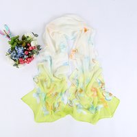 butterfly scarf silk - Butterfly Print scarf women chiffon silk scarf girls shawls and scarves
