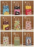 Cheap NEW cartoon kraft paper gift bag, Festival gift bags, Paper bag with handles 21X13X8cm