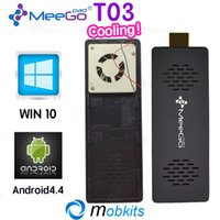 Wholesale In Stock Newest Meegopad T03 Mini PC Android Windows Dual Boot TV Dongle Z3735 Tronsmart Cherry Trail MeeGoPad T02 New