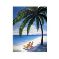 Cheap Tahiti Hawaii Beach Chairs Sand Shore X-L Oil Painting