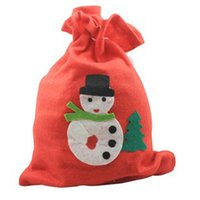 Wholesale Christmas gift bag Christmas candy gifts bag with Snowman Santa Claus luxury bag free ship ePacket and HK POST M85