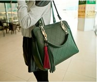 Totes ancient messenger bags - Women messenger bag grid big bag leisure bag restoring ancient ways c tassel bag ladies handbags