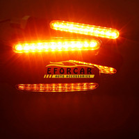 Wholesale 50pcs Universal LED Motorcycle turn signals lights motorbike Indicator Blinkers Amber Light Lamp v Motorcycle Lights parts