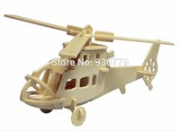 wooden toys for children - New imaginative D Wooden Jigsaw Puzzle Fighter Plane model toys DIY suite for children and adult wooden toys