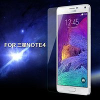 Wholesale 100pcs DHL Free Ship Glass Protect Film For Samsung Galaxy Note Clear Front Screen Protector For Galaxy Note IV N9100