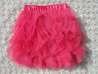 Wholesale toddlers baby girl s pleated petals tulle skirts tutu skirt many colors for summer spring autumn