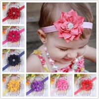 bandanas sale - Elastic Headbands Flower Headbands Fabric Headbands Colors Girls Headband Fashions Hot Sale
