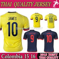 colombia - DHL Best Thai Colombia soccer jersey home away Colombia jersey JAMES RODRIGUEZ Colombia football soccer shirt