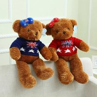 bear comic - 2016 Lovely cm Dorset Bear Teddy Bears Plush Soft Toys Stuffed Animals Ted Dolls With Sweater Cheap Soft Plush Children Gift