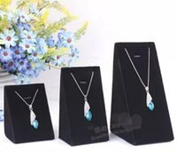 Wholesale 3 sizes Triangle Velvet Bust Necklace pendant Jewellery Display Stand jewelry holder