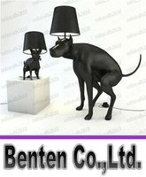 Wholesale Resin dog poo hall bedroom lamp modern office unique creative personality Laden dog big dog floor lamp LLFA4796F