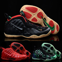 silk stretch satin - Nike Foamposites Pro Penny Hardaway Mens Shoes black Green Red White Original Air Foamposite One Shoes For Men Basketball Sneakers