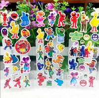 Wholesale 100pcs Sesame Street Bubble Stickers D Sesame Street Foam stickers for Children Birthday party gift rewards stickers