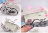 bicycle events - 100pcs European Creative Cartoon Bicycle Candy Box Wedding Faours Event Birthday Party Supplies Gift Box Chocolate Box