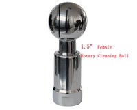 Wholesale SS304 G1 quot Female Thread Stainless Steel Sanitary Rotary Spray Ball Tank Cleaning Spray ball