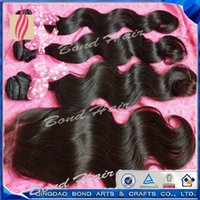 Wholesale Buy Hair Bundles Weft Get Free Lace Closure quot A Unprocessed Peruvian Virgin Hair Extension Body Wave Wavy Human Hair Weave Dyeable
