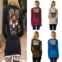 Wholesale 2016 Europe and America big brand base shirt for women skull cardigan T shirt Thin section cardigan