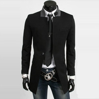 Wholesale Fall casual brand cheap men winter long trench manteau homme pea coat overcoat jacket male windbreaker parka casaco masculino