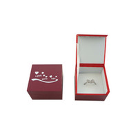 pvc manufacturers - High end ring wooden box jewelry display boxes wedding ring boxes manufacturer PVC and wood box for jewellery customized design accepted
