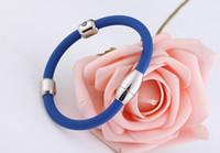 best germanium - DA95 tourmaline germanium sport vintage cuff bands beads elastic silicone charm best friendship bracelet