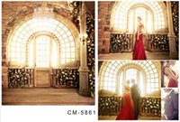 arched window - 200cm cm ft ft wedding background Chandelier flower arched windows photography studio photography backdrops cm