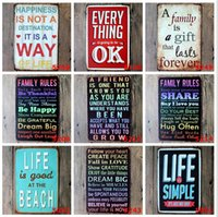 Wholesale 2015 cm classic warmly sweet notice poster Tin Sign Coffee Shop Bar Restaurant Wall Art decoration Bar Metal Paintings
