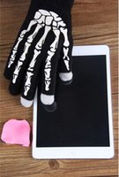 Wholesale Hot Halloween Knitted Touch Screen Texting Gloves Winter Warm Luminous Gloves For Iphone Ipad Style Choose EIC