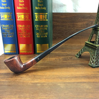 Cheap Wholesale-Smoker Long Briar Tobacco Reading Pipe Wooden Smoking Pipe Handmade Pipe for Smoking With Smoking Pipe Stander NB301BH