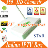 Wholesale free india iptv plus Indian HD channels Year with set top box Wifi TV box Media Player Android Box