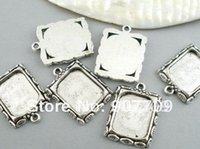 gold picture frame - Jewelry Pendants Picture Frame Silver Tone x19mm fashion jewelry Diy