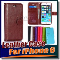 iphone 5 - For Iphone case Galaxy S6 Note Iphone plus cases Wallet PU Leather Case Cover Pouch with Card Slot Photo Frame For iPhone S