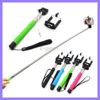 camera tripod - Selfie Wired Cable Take Pole Z07 S Handheld Monopod Stick in1 Camera Tripod Mobile Phone Monopod With Holders Clips