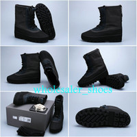 Wholesale Brand Original YZY Kanye West Yeezy Boot Mens Flat Boot Boost Duck Boot Pirate Black Size