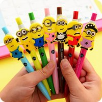 Wholesale 2015 New Despicable Me Minions cartoon Press the gel pen student prize Gifts for children Stationery school supplies for children